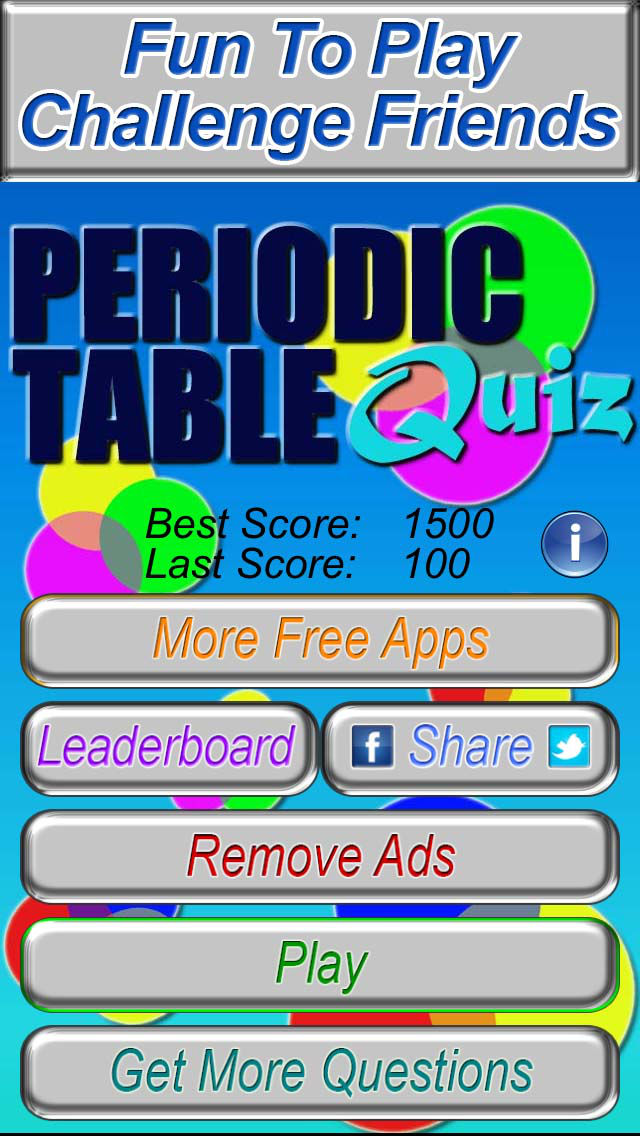 Periodic table quiz free the fun chemistry practice test game app description periodic table of the elements practice quiz game urtaz Images
