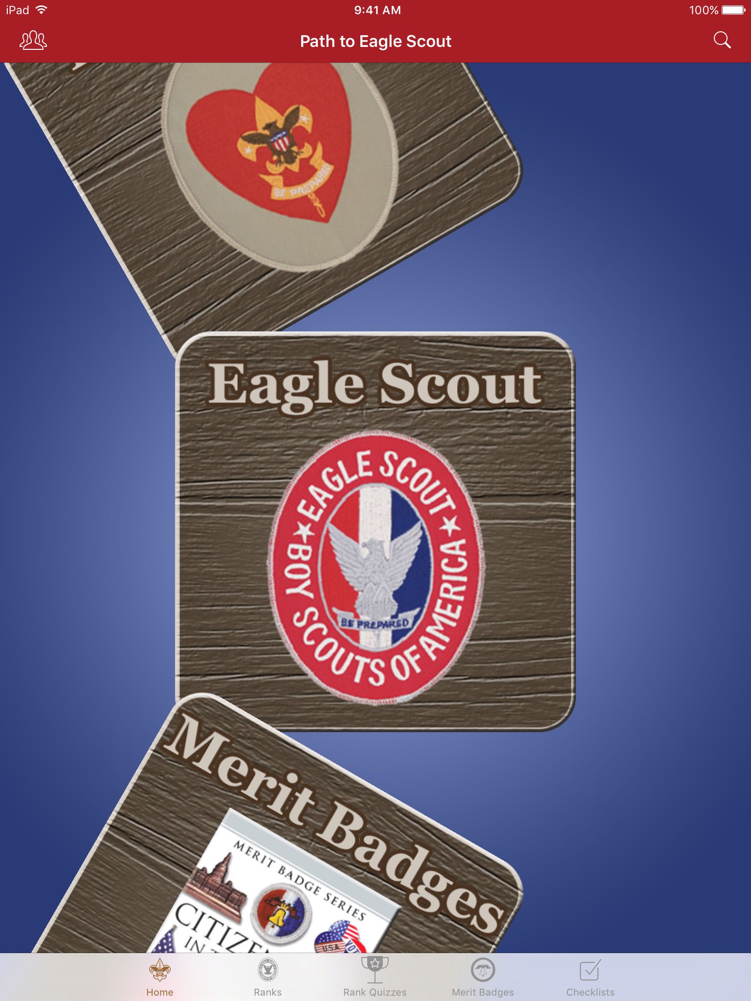 Path to eagle scout app ranking and store data app annie which includes questions to prepare for his board of review checklists for the scout to mark off each of the rank requirements as they are achieved robcynllc Choice Image