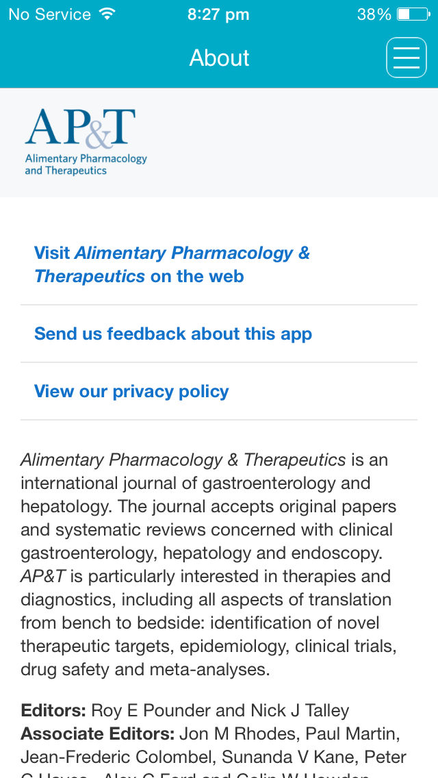 Alimentary Pharmacology & Therapeutics App Ranking and Store