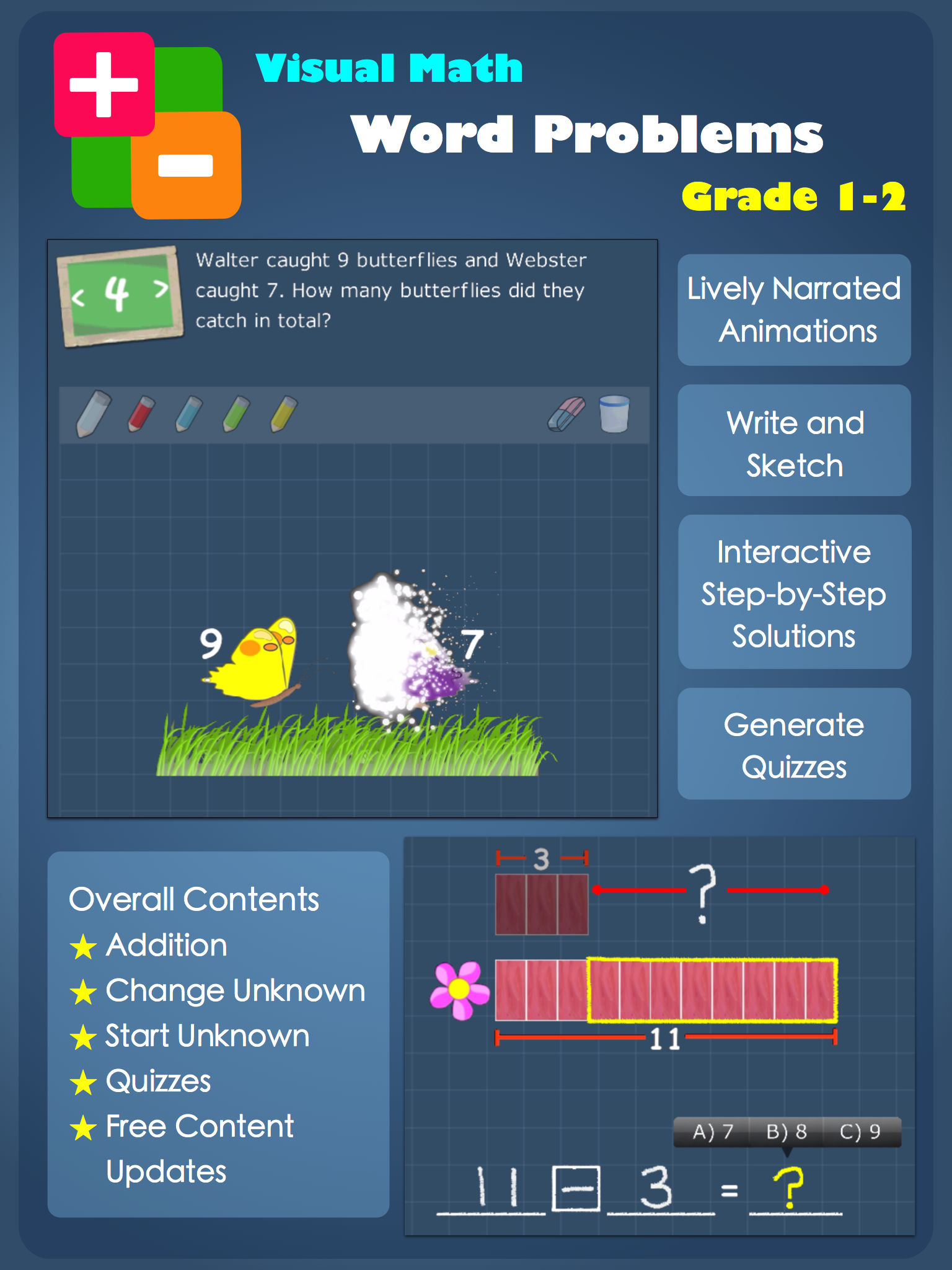 Visual Math Word Problems - Animation, Solution & Practice App ...