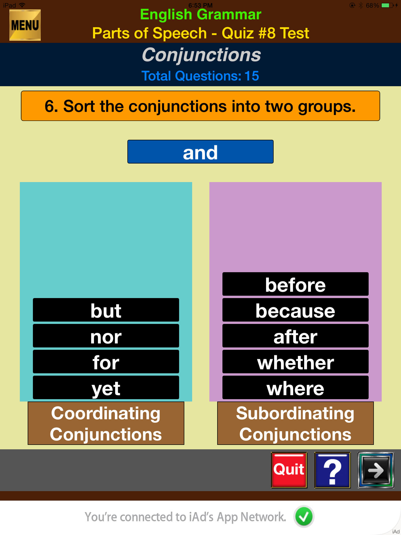 easyLearn English Grammar - Parts of Speech Lite App Ranking and