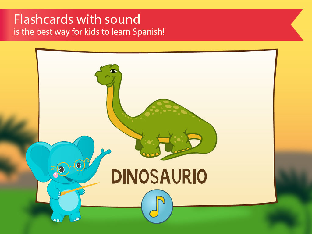Spanish For Kids With Benny Learning Spanish Language By Flashcards