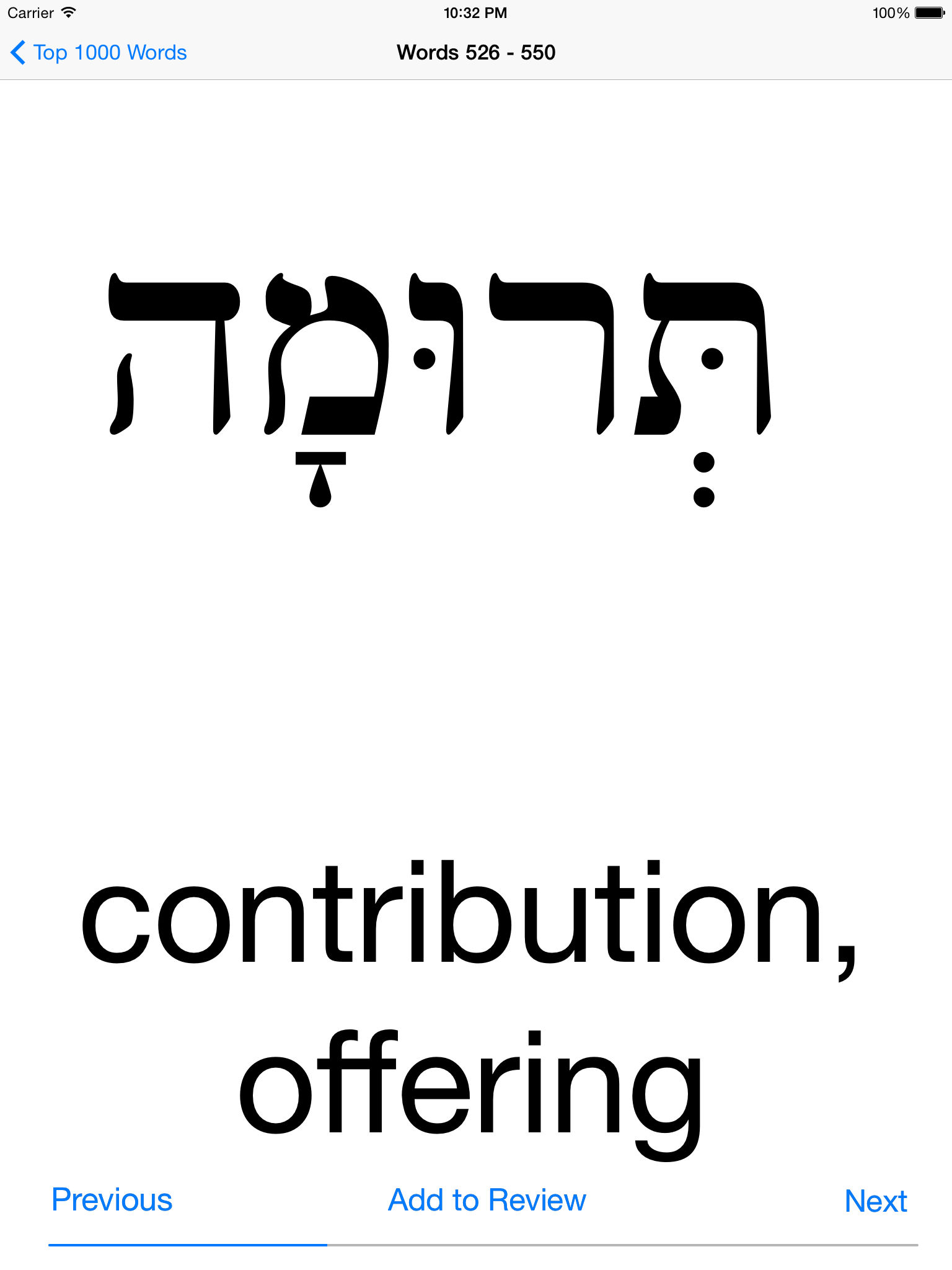 Biblical Hebrew Vocabulary App Ranking and Store Data | App Annie