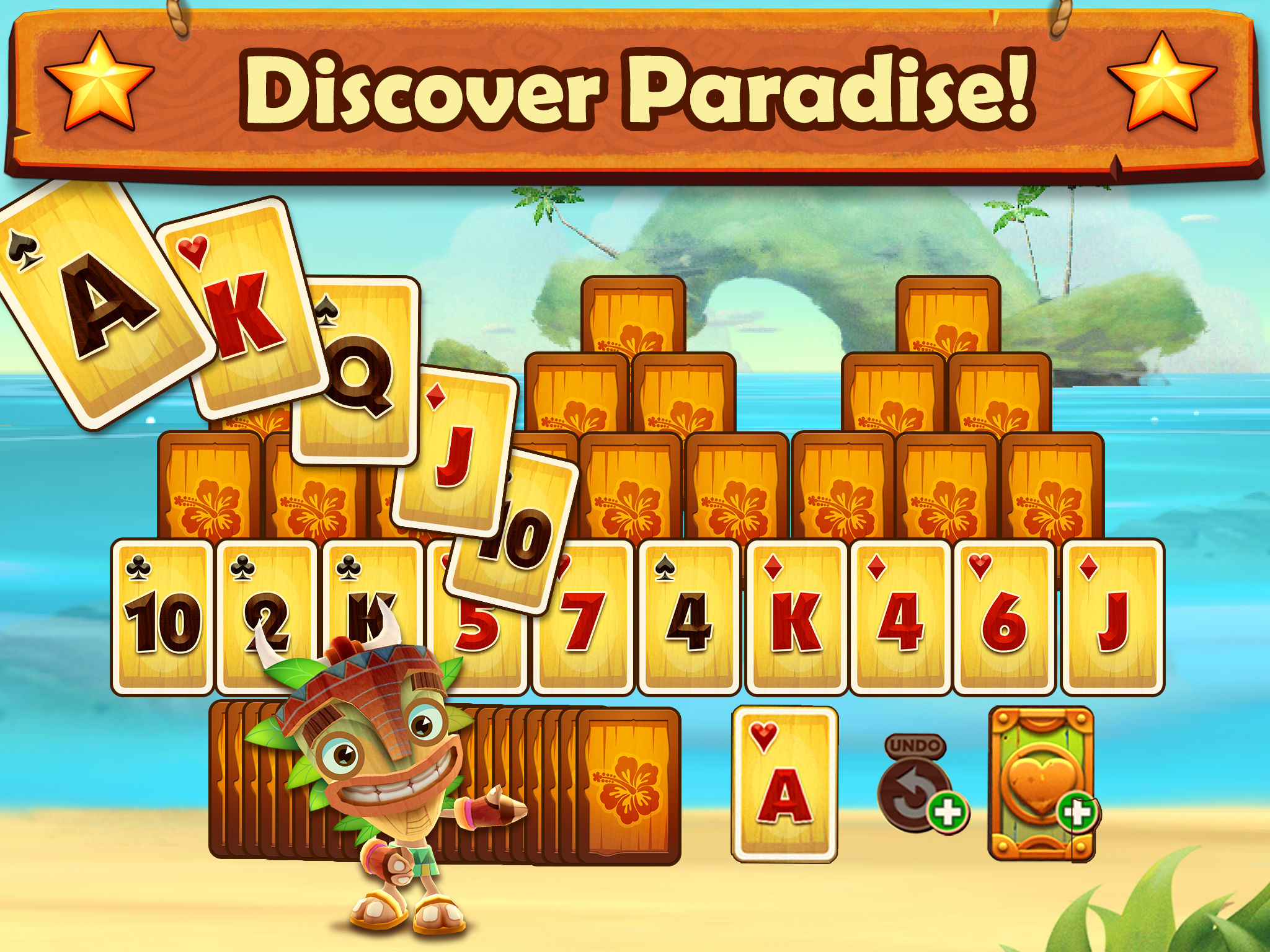 App Description. Play in paradise with Solitaire TriPeaks, the number 1  online card game.