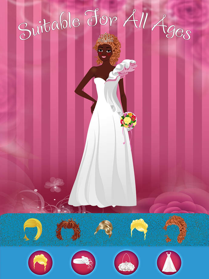Royal Wedding Dress Designing Games : Design and plan my royal elegant wedding dress maker
