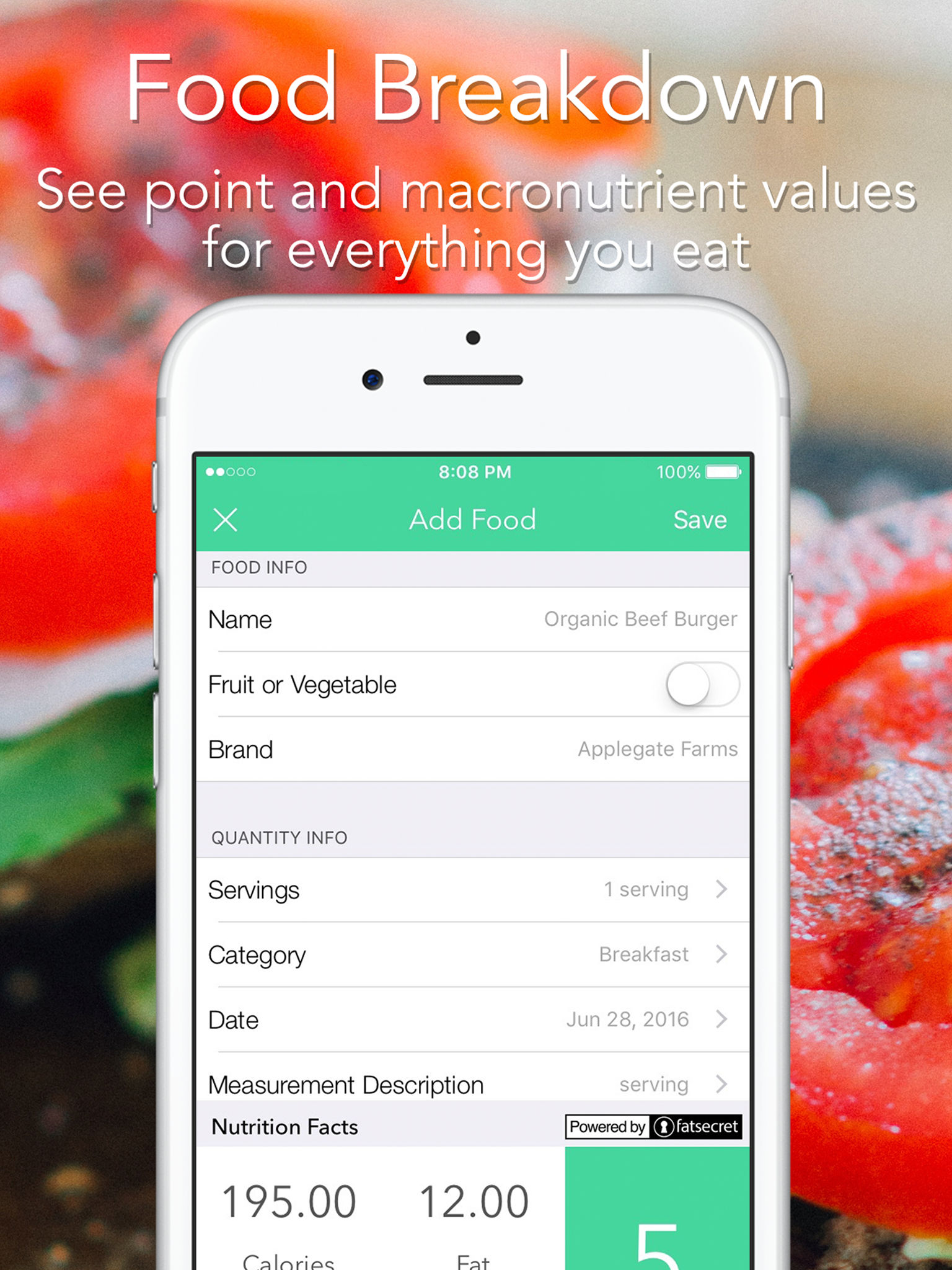 iMacro - Diet, Weight and Food Score Tracker App Ranking and