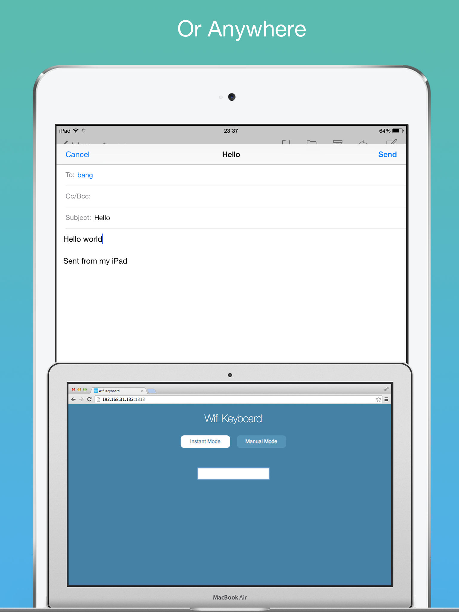 Wifi Keyboard - Connect your keyboard to iPhone/iPad with