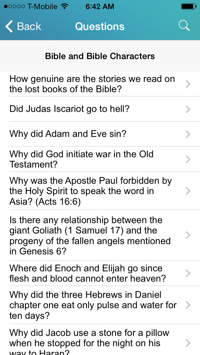 Bible Questions and Answers - Free Topical Bible Study App