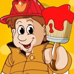 Firefighter Coloring Book for Children: Learn to color