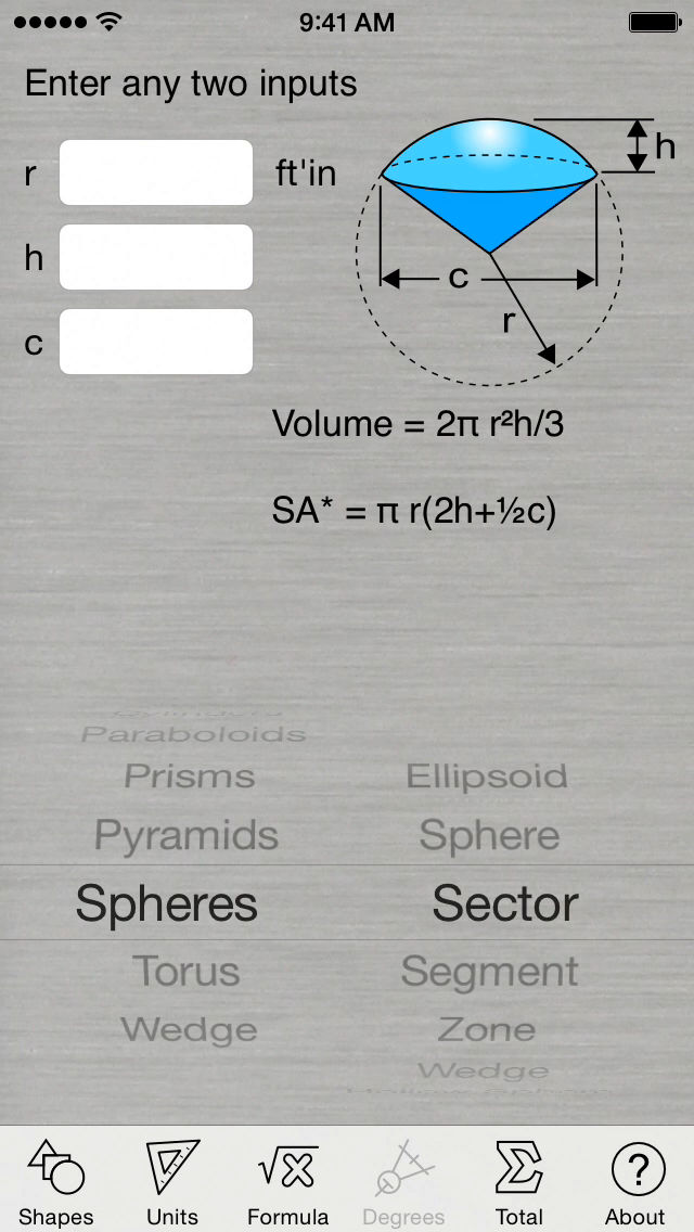 Geometry Bundle (Area and Volume Calculators plus a Unit Converter