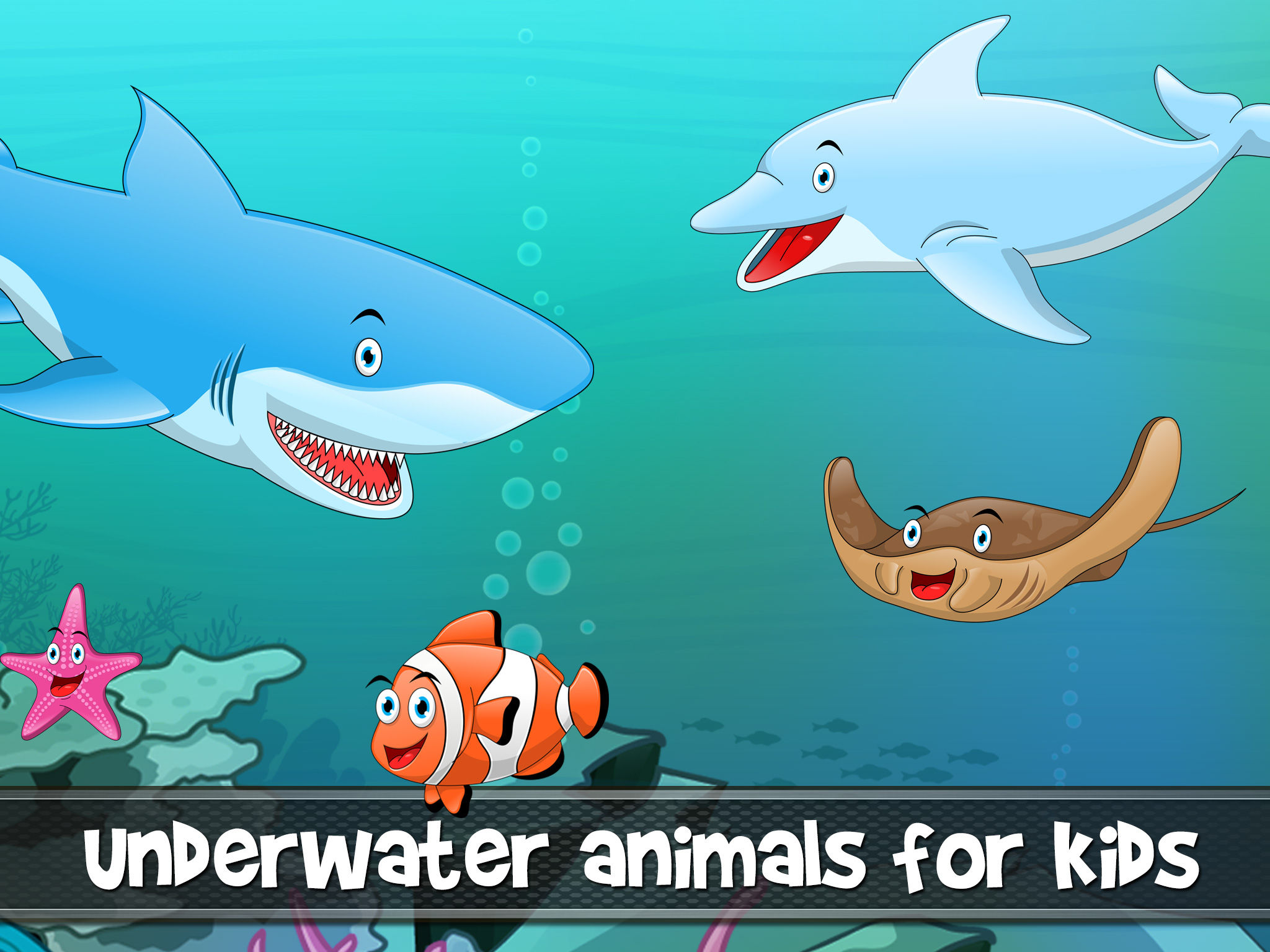 peekaboo animals in the sea ocean lake and river for toddlers