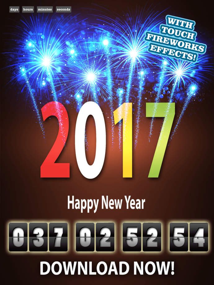 Happy new year eve countdown clock timer free app ranking for New years eve apps