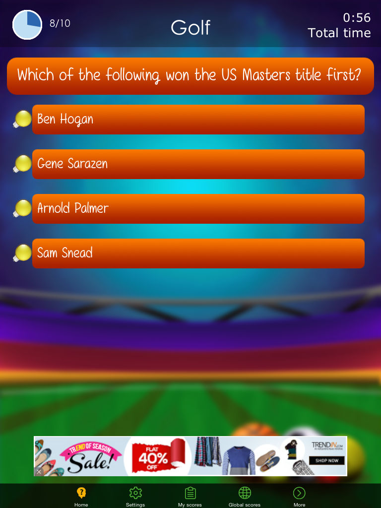 Sports Quiz - Challenging Sports Trivia App Ranking and
