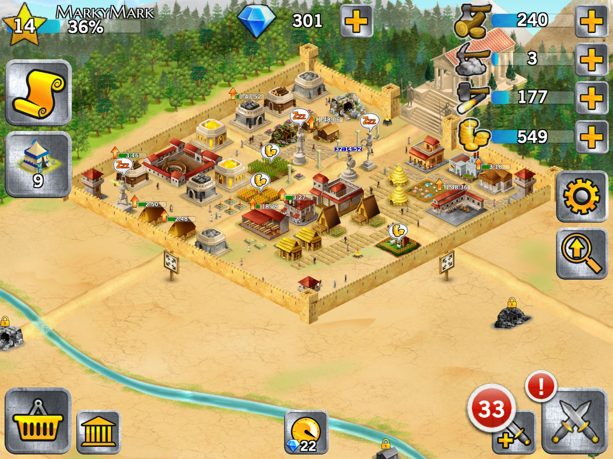 Battle Empire: Roman Wars - Build a City and Grow your