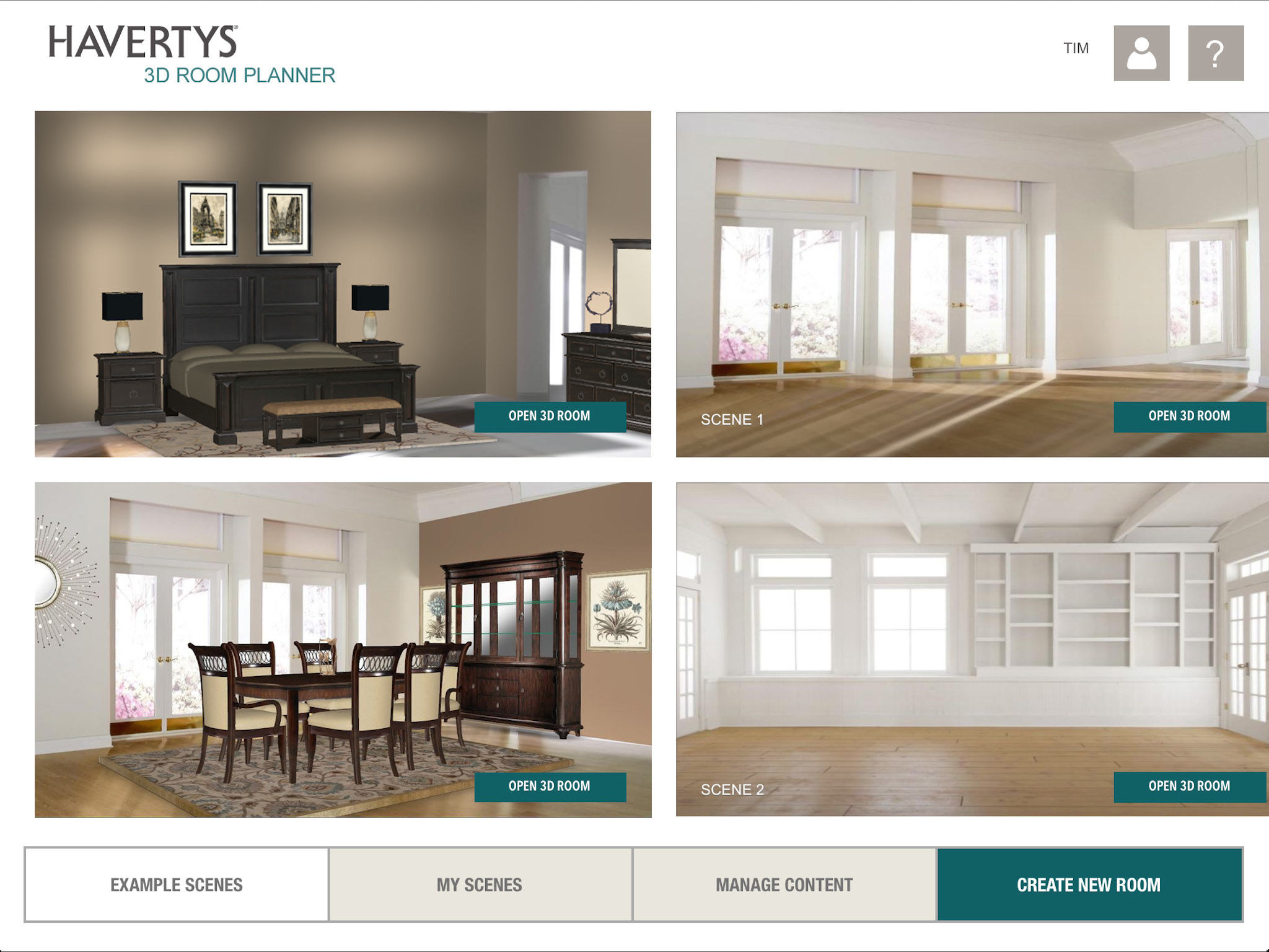 Explore Different Designs And Furniture Layouts To Share With Your Friends All From The Comfort Of Your Home App Description Havertys 3d Room Planner