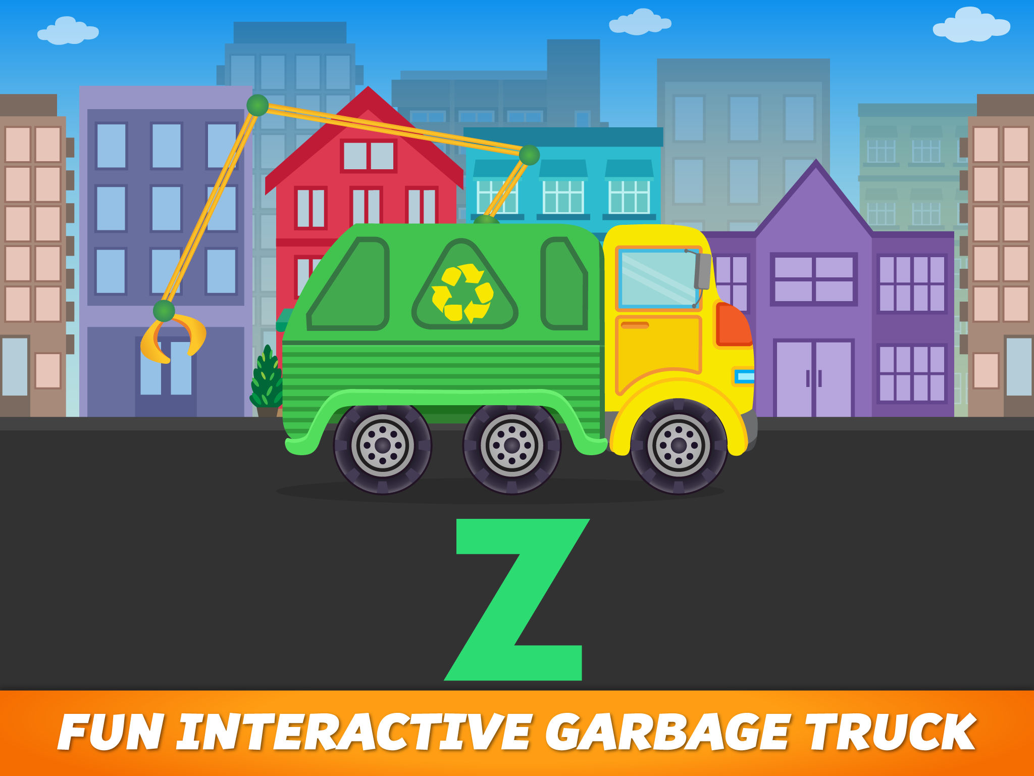 Get ready garbage truck coloring book - App Description
