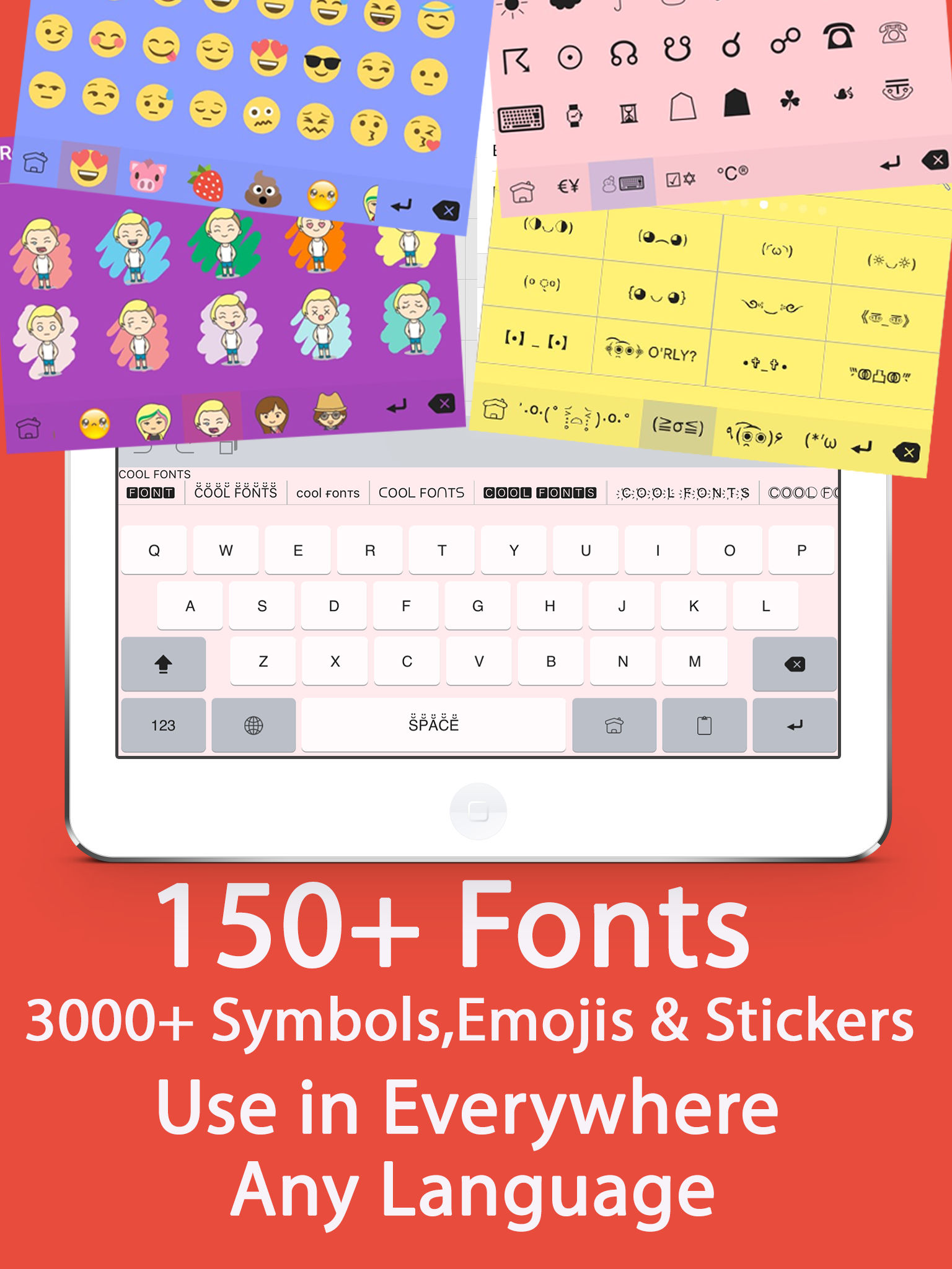 Color fonts keyboard keyboards with cool font emoji for app description biocorpaavc Choice Image