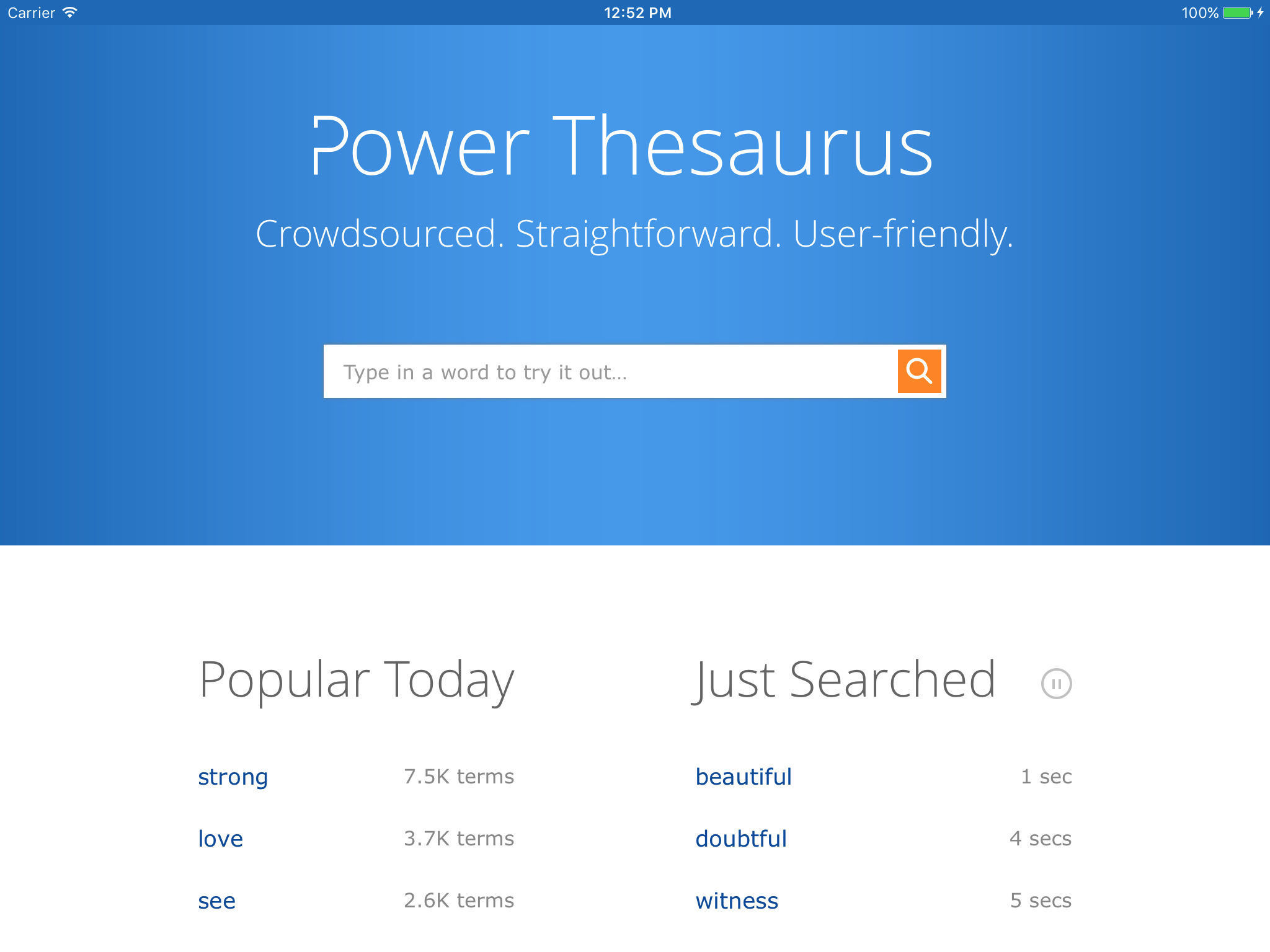 Power Thesaurus App Ranking and Store Data | App Annie