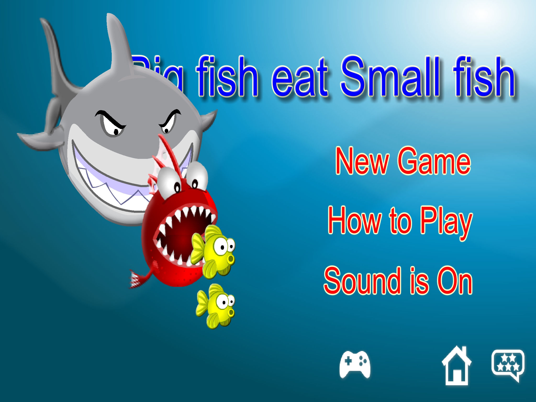 Big fish eat small fish game app ranking and store data for Fish eat fish game