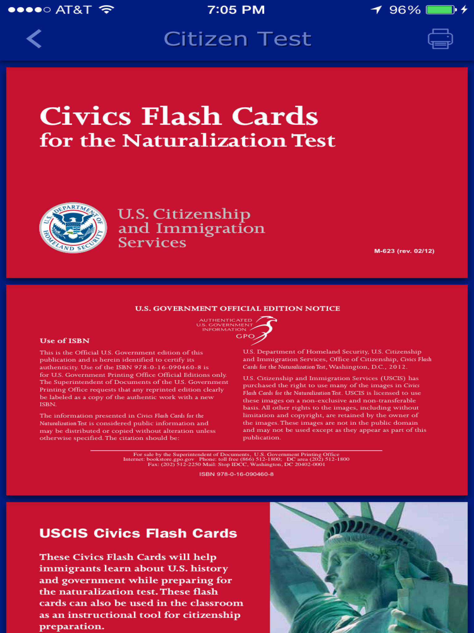 civics flash cards for the naturalization