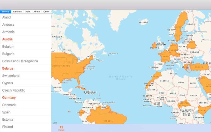 Countries Visited - Map App Ranking and Store Data | App Annie