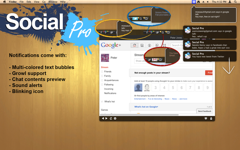 Social Pro for Facebook, Twitter, Gmail & Google+ App Ranking and