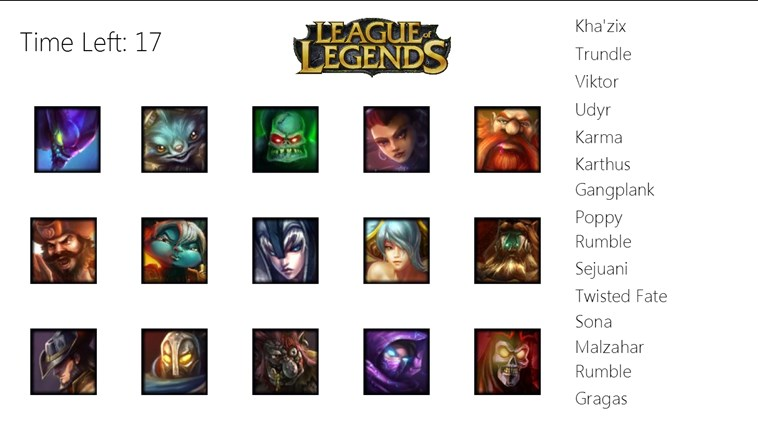 Match Your Favorite League Of Legends Champions To Their Names Without Running Out Time