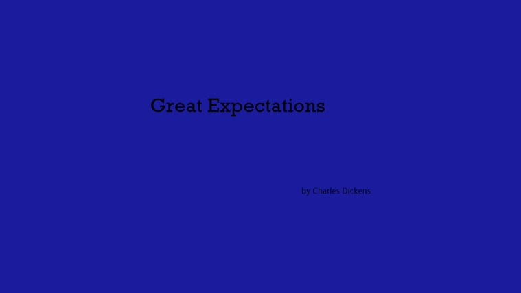the different forms of success in great expectations a novel by charles dickens Charles dickens's novel great expectations has the  takes many different forms  her to chose drummle and success over pip at the end of the novel,.
