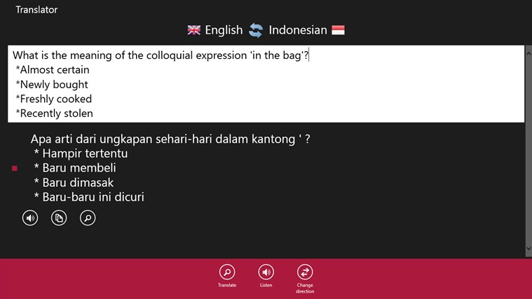 online dictionary english to indonesian language
