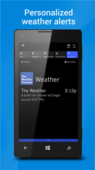 how to get future radar on weather channel app